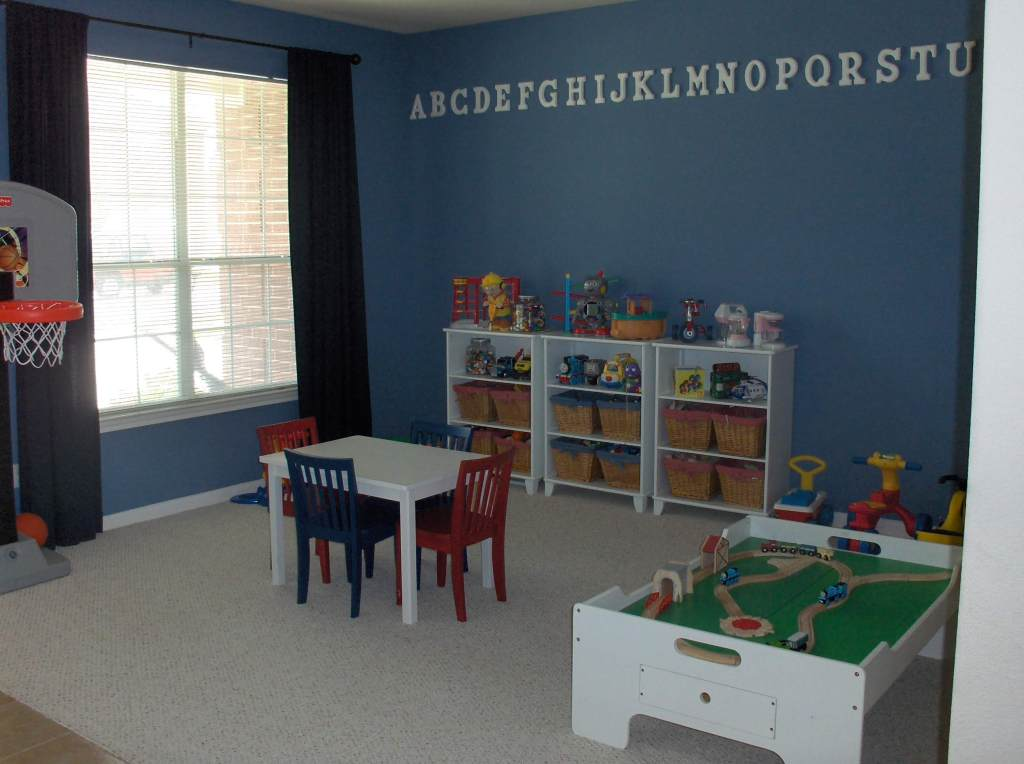 Toy organization. Organized playroom